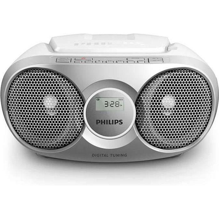 RADIO CD CASSETTE PHILIPS AZ215S - Poste Radio Lecteur CD - Gris