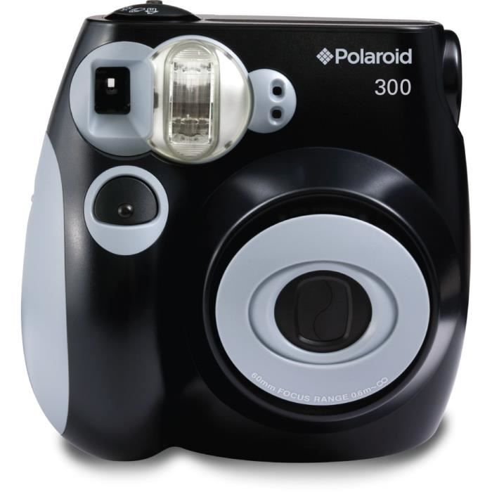 polaroid pic300 noir appareil photo instantan compact. Black Bedroom Furniture Sets. Home Design Ideas