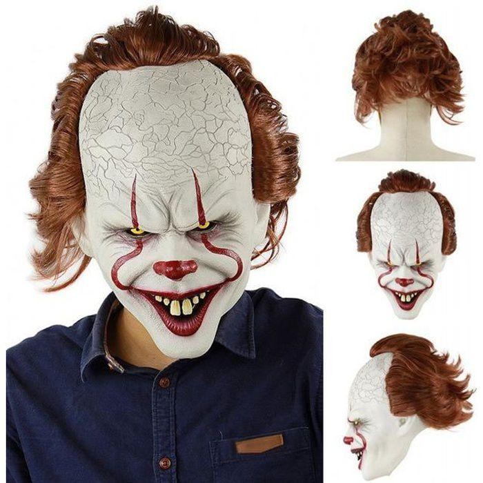 Masque Clown Terrifiant XXL Taille Unique Halloween