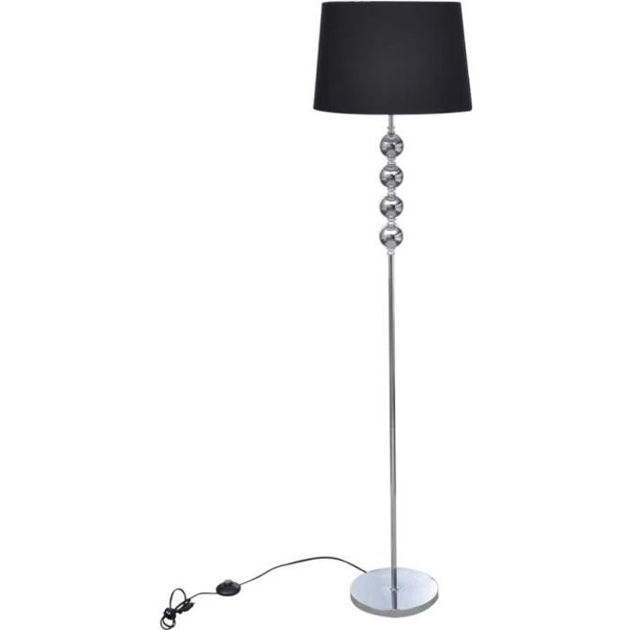 lampe de sol long pied noir achat vente lampe de sol long pied no cdiscount. Black Bedroom Furniture Sets. Home Design Ideas