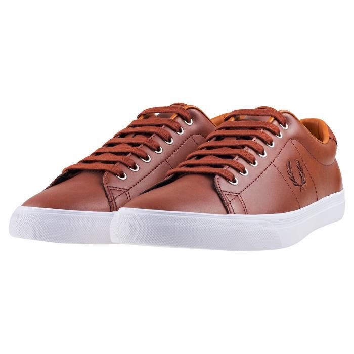 Fred Perry Underspin Hommes Baskets bronzer - 10 UK tjZOInjqX
