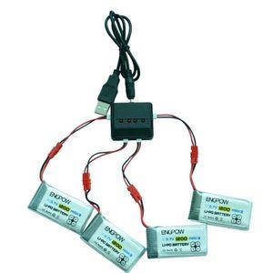 PIÈCE DÉTACHÉE DRONE 4x 1200mAh 3.7V 25C Batterie + Chargeur 4in1 USB p