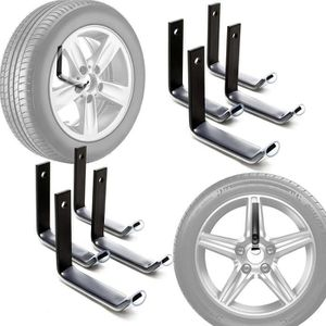 SUPPORT PNEUMATIQUES 8pcs Porte-pneus Mural Support de Rangement de Pne