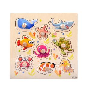PUZZLE 9 Piece animaux Seabed en bois Puzzle Early Learni