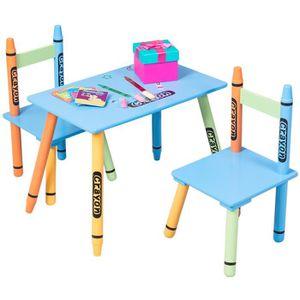 TABLE ET CHAISE Ensemble Table et 2 Chaises pour Enfants Crayon Mu