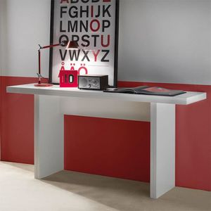 CONSOLE EXTENSIBLE Table console extensible blanche design ZITA  Opti