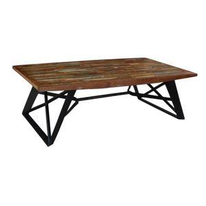 TABLE BASSE Table basse bois recyclé Meuble House Marron