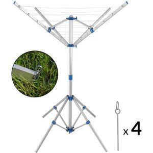 FIL À LINGE - ÉTENDOIR Deuba - Étendoir à Linge Parapluie Aluminium • Pli