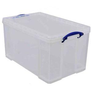BOITE DE RANGEMENT Boîte  plastique 84 L transparent incolore, recyc