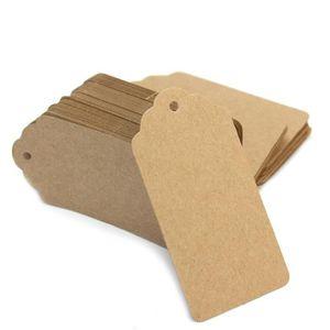 ULTNICE 200pcs Kraft Papier boucle doreille Tags Rectangle Oreille Goujons Cartes daffichage Brown