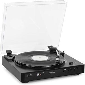 PLATINE VINYLE auna Fullmatic Platine tourne-disque vinyle automa