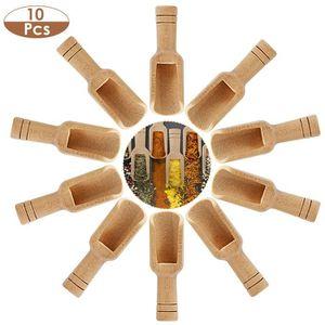 De haute qualité bois Cuiller en bois hauteur 30 cm Avec Visage Et à épices mélange 15 g