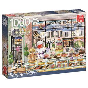 PUZZLE JUMBO Puzzle 1000 pièces Bonjour Paris
