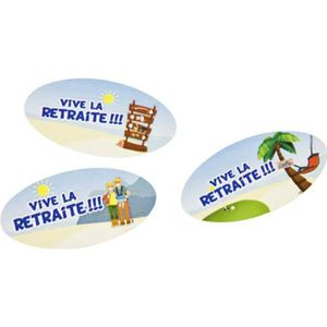 CONFETTIS Confettis de table 'vive la retraite'