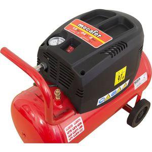COMPRESSEUR MECAFER Compresseur d'air horizontal 24L 1,5HP Oil