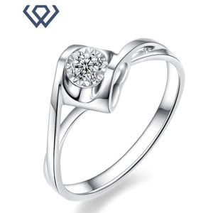 BAGUE - ANNEAU Bague Diamant 18K Or Blanc Femme: Poids du diamant