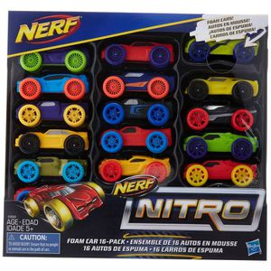JEU D'ADRESSE NERF Nitro mousse voiture 16-pack (version 1) O1JX