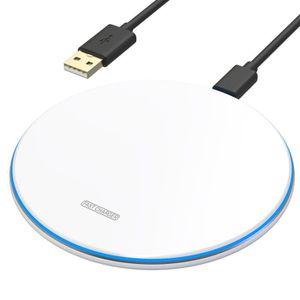 CHARGEUR TÉLÉPHONE Chargeur à Induction Blanc [Compatible  Apple iPho