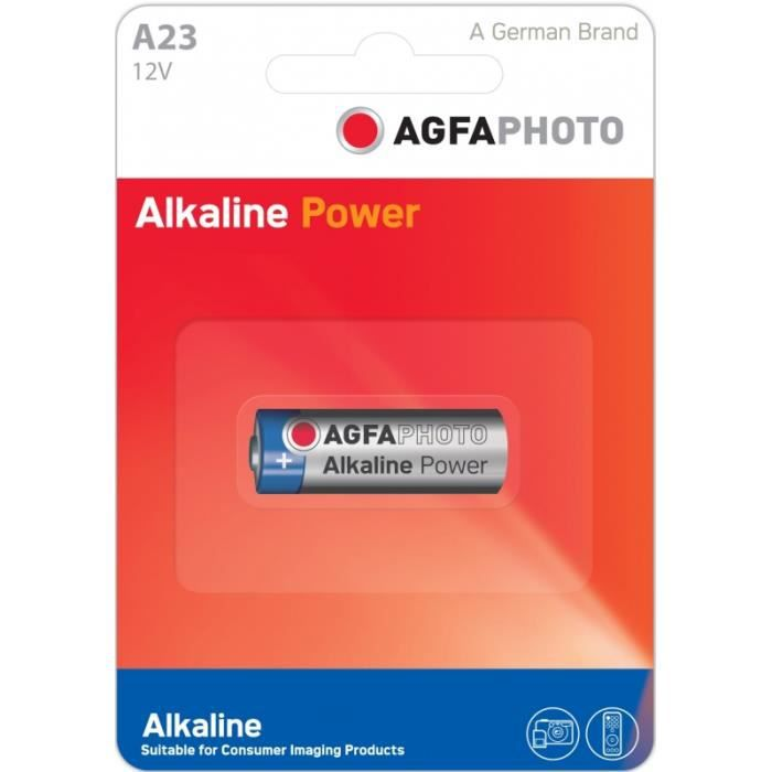 AGFAPHOTO 1 Pile alcaline 12V 23A A23 MN21