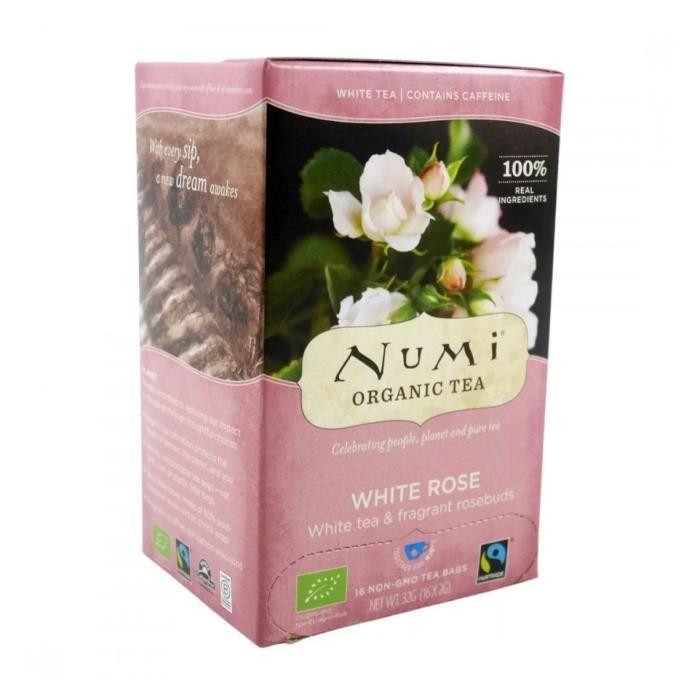 Thé Blanc à la Rose Bio 18 sachets Numi Tea