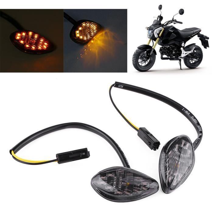 2 pcs LED Feux Clignotants Moto de Signal 12V Indicateur de Clignotants Flush Mount Lampe Ambre Avant