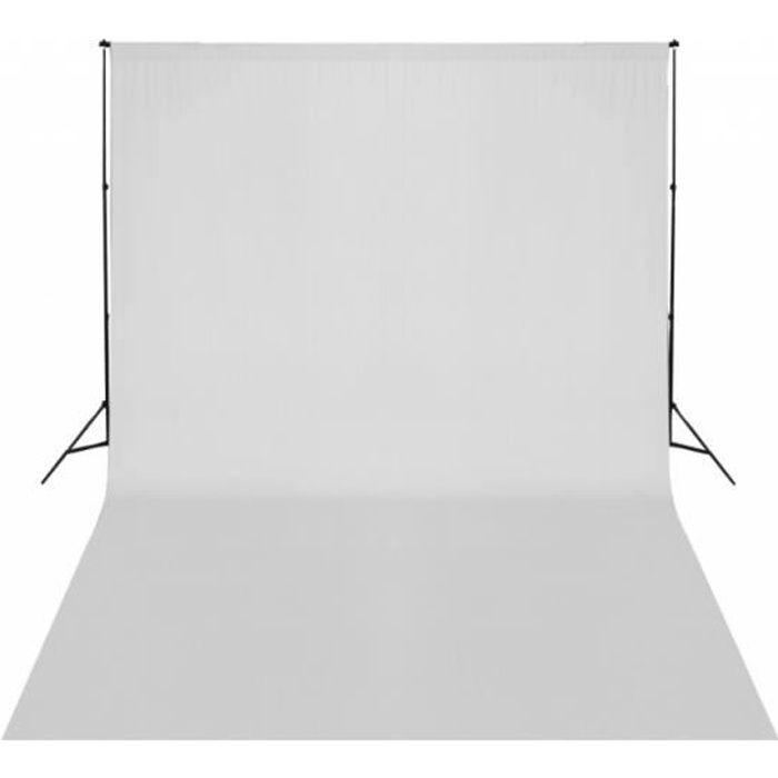 Kit complet studio photo + fond blanc sans coutures 3x5 m photo vidéo studio professionnel 1802015