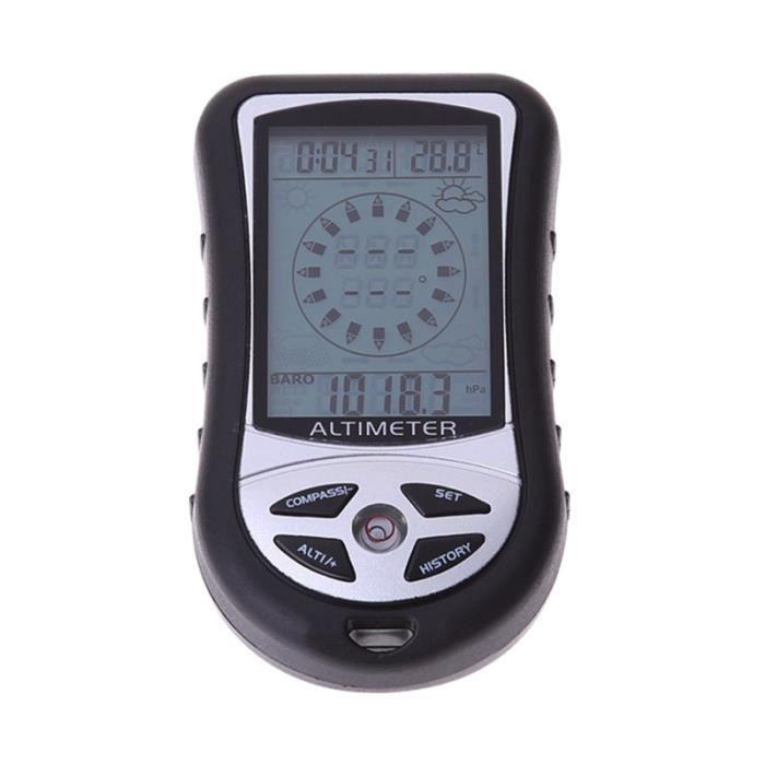 1Pc Compass Tool Multifonction 8 en 1 Altimètre Durable pour Voyage KIT DE SURVIE - NECCESSAIRE DE SURVIE RANDONNEE - TREK