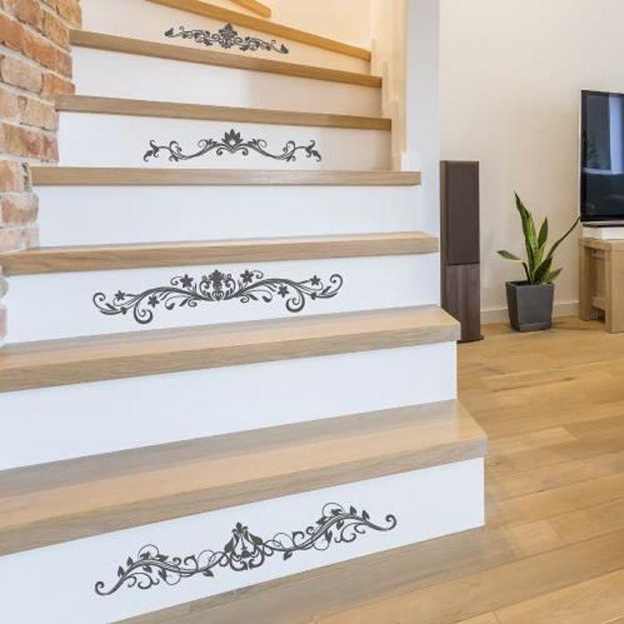 Adhesif contremarche lot de 4 - WONDERNIEW- Adhesif pour escalier - Dimensions 1m x 17 cm