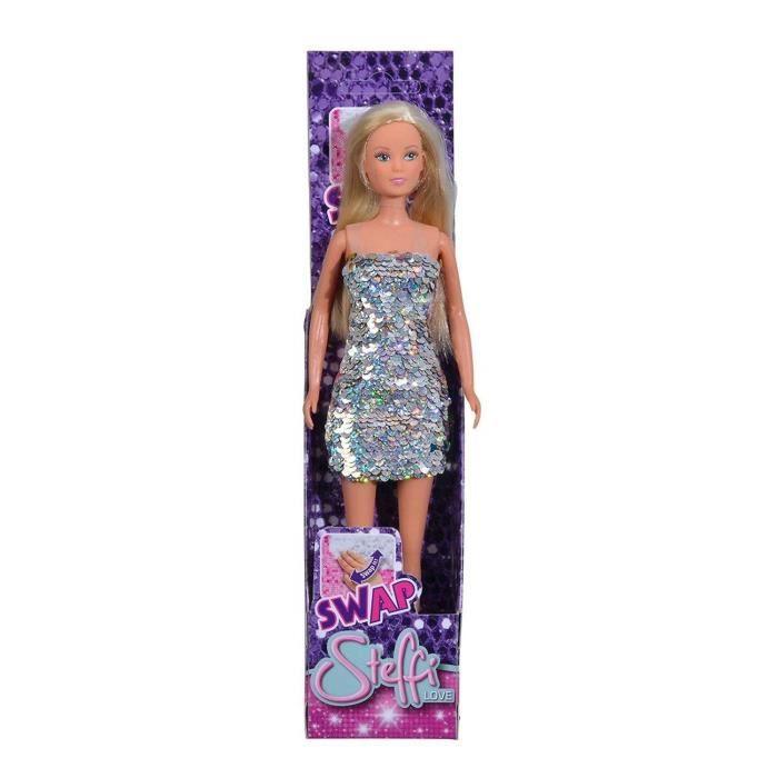 Simba Toys 105733279 Poupée - Steffi Love avec robe à paillettes