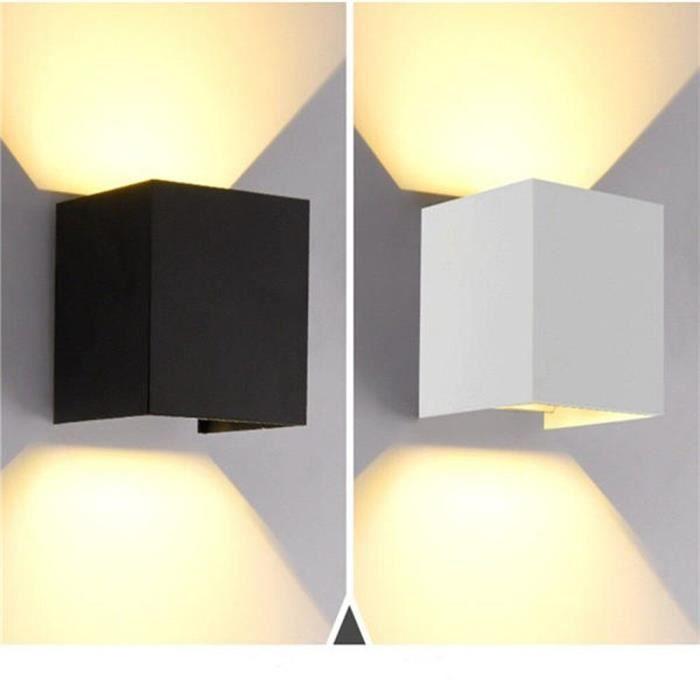Éclairage extérieur étanche monté en Surface mur LED Luminaire moderne nordique lampes murales d'intérieur salon po - White - JB3481