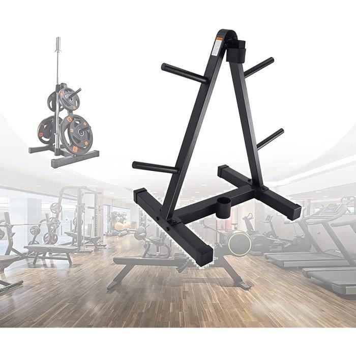 EUNEWR Rack de Rangement pour Poids et haltères,Support de Plaque de Poids avec Porte-haltères,Support Disque Musculation avec 4129