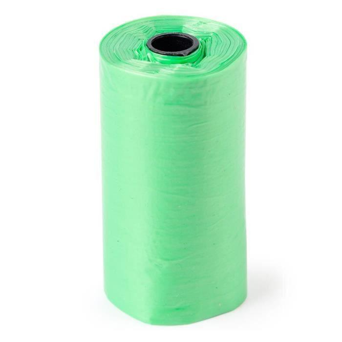 Sac de proprete excrements,100 rouleau 1500 pièces chien sac merde zéro déchets animaux de compagnie déchets - Type green-1500PCS