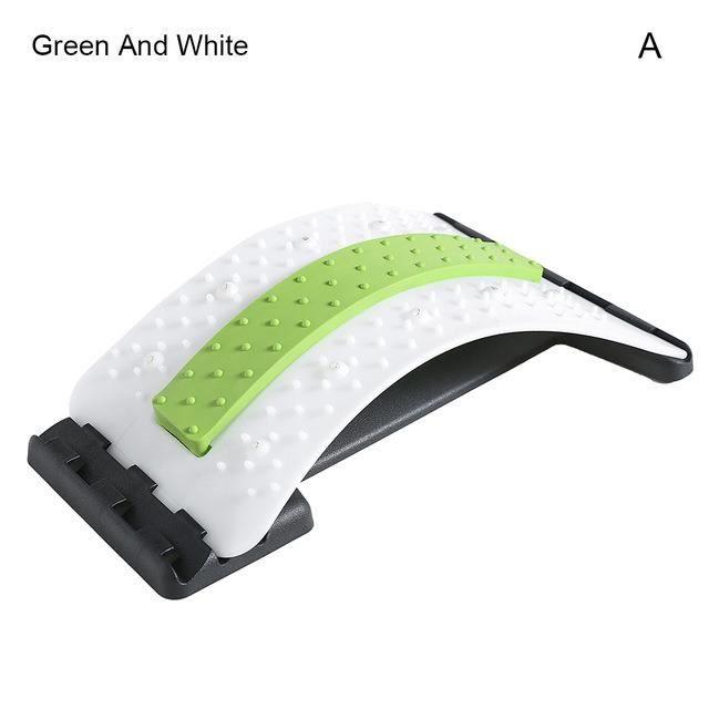 Support dorsal sain civière Extender masseur lombaire réglable Portable pour la maison,vert et blanc