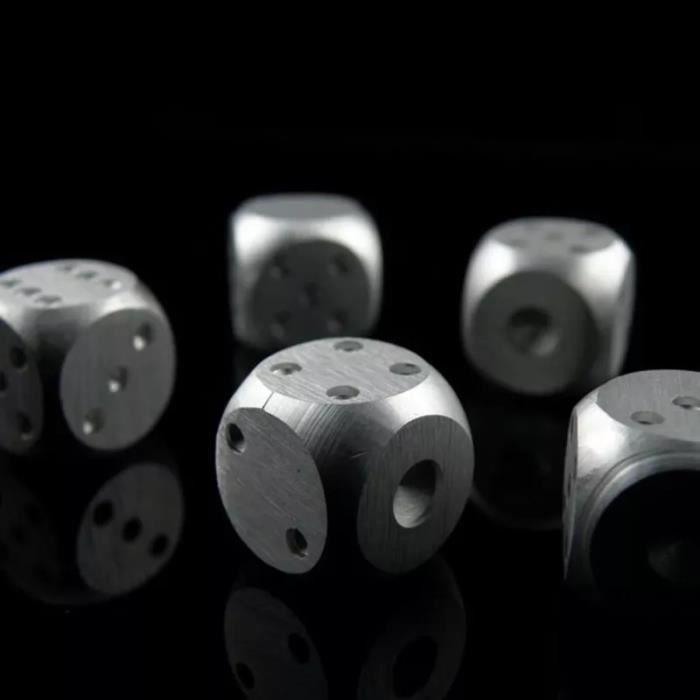 Cubes de glace réutilisables en alliage d'aluminium, 5 pièces, Cubes de Whisky, seau, pierres de refroidissement pour Whisky