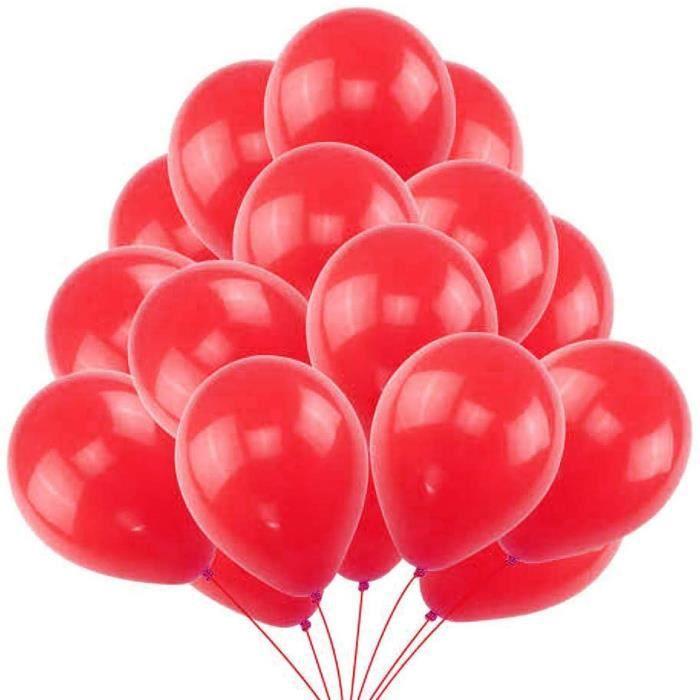 50 Ballons Rouge Ballons de Baudruche Rouges Perlé Nacré. Ballons d'Anniversaire Gonflables 36cm - 3.2 g Décoration romantiqu 480