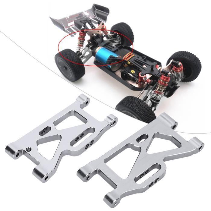 Fdit Bras pivotant avant Kit de bras oscillant avant + arrière pièces de mise à niveau en métal pour voiture Wltoys 144001 1/14