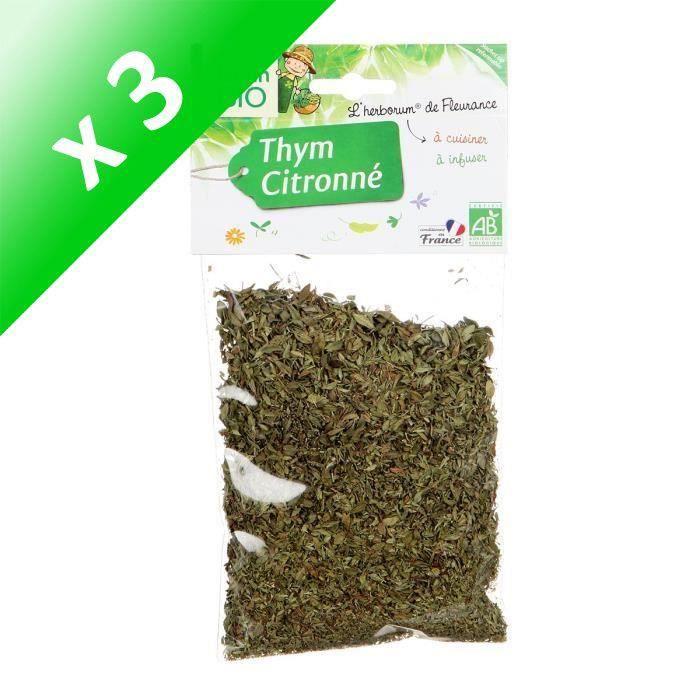 [LOT DE 3] JARDIN BIO Thym citronné bio - 25 g