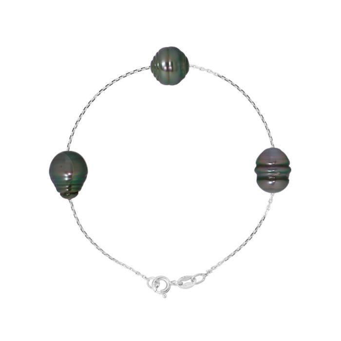PERLINEA Bracelet Argent 925° et Perles de Tahiti Femme