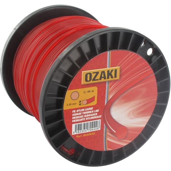 Bobine fil nylon rond OZAKI - Longueur: 30m, Ø: 4,00mm