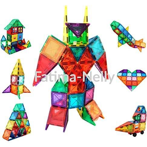 bloc de construction magnétique puzzle 100 pièces tuile magnétique jeu d'assemblage educatif jeu mixte jeu de réflexion multijoueur