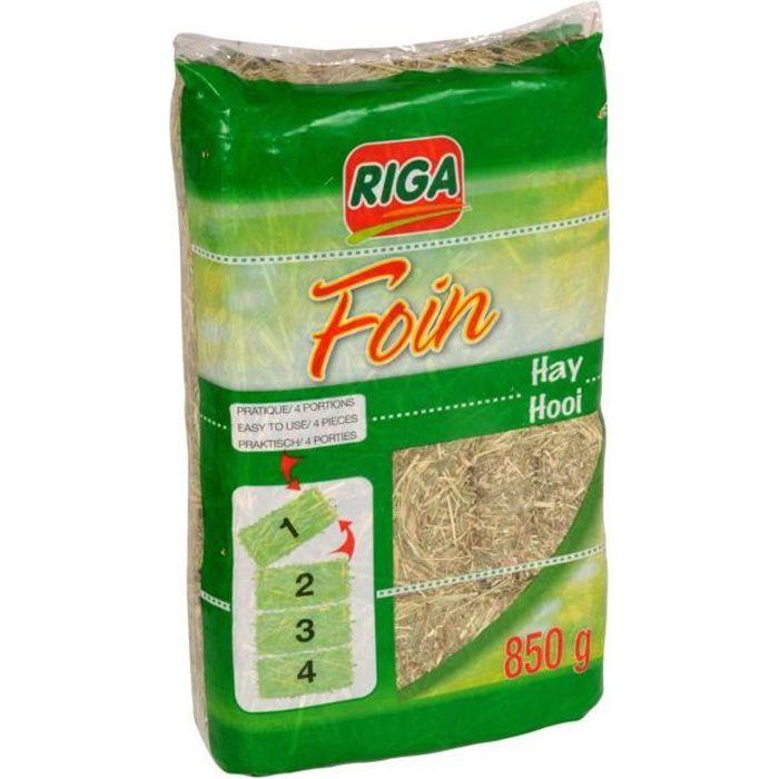 RIGA Foin compacté sécable en 4 - pour rongeurs - 850g