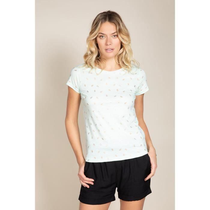 DEELUXE T-shirt à imprimé floral PALMA Light Mint