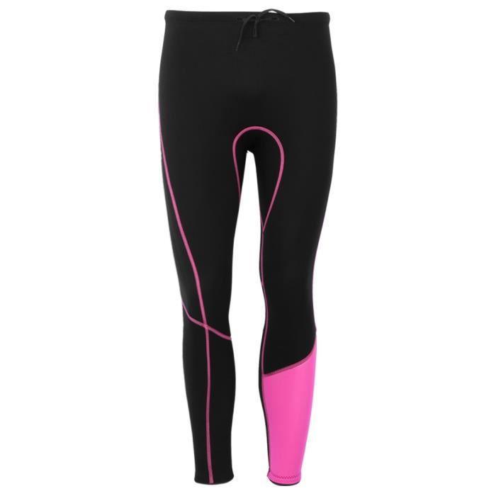 Pantalon de combinaison femme maillots de bain ajustés de protection solaire pour plongée en apnée surf(M )-QIN
