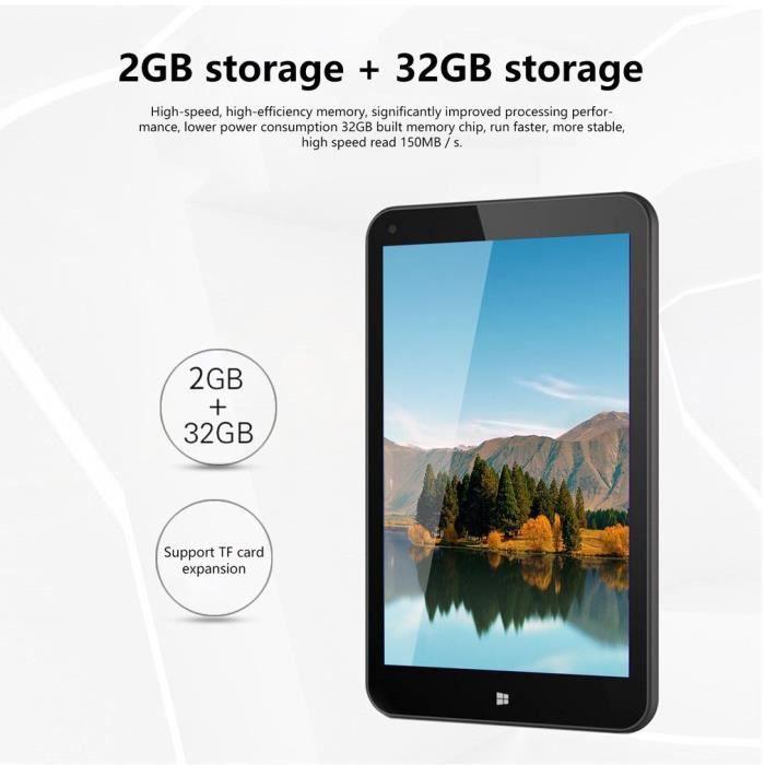Tablette portable Windows 8 pouces 2G + 32G Tablette Pc