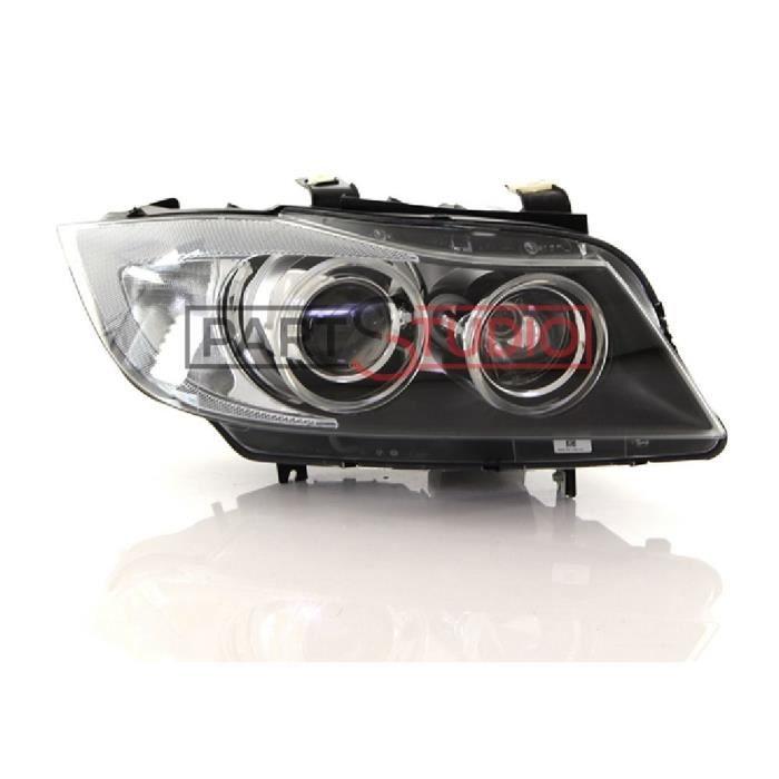 Optique, phare avant droit Bi-Xenon éclair virage, BMW Série 3 E90 de 03/05 à 10/08