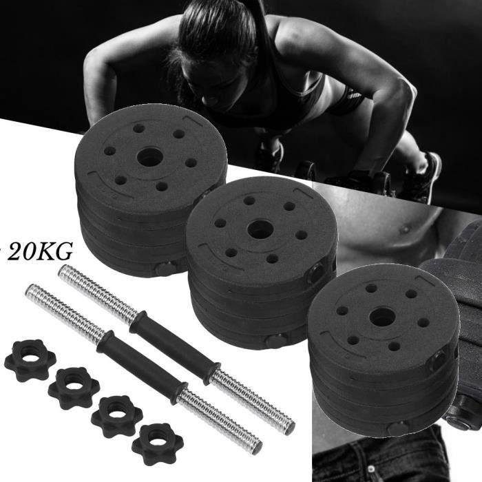 COC Set d'haltères 20kg: 1 - 25 kg*4 - 1 - 5 kg*4 - 2 kg*4 - 2 - 5 kg*4 Disques poids réglables professionnel de l'exercice-4