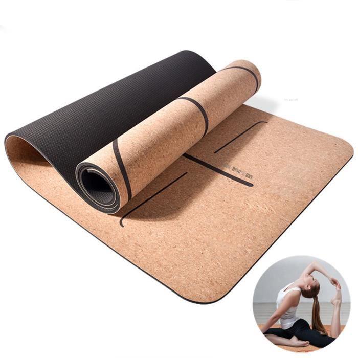 TD® Tapis de yoga rustique doux confortable anti sueur r-sistant et écologique accessoire de sport et de fitness léger élégant