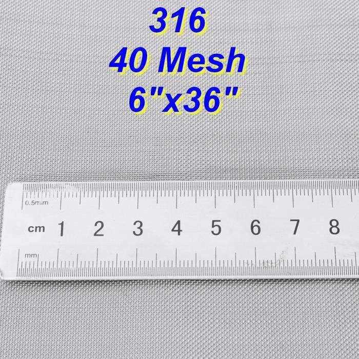40 Mesh 316 Acier inox Filtration Feuille Mesh Filtre Woven Wire Sheet 15x90cm