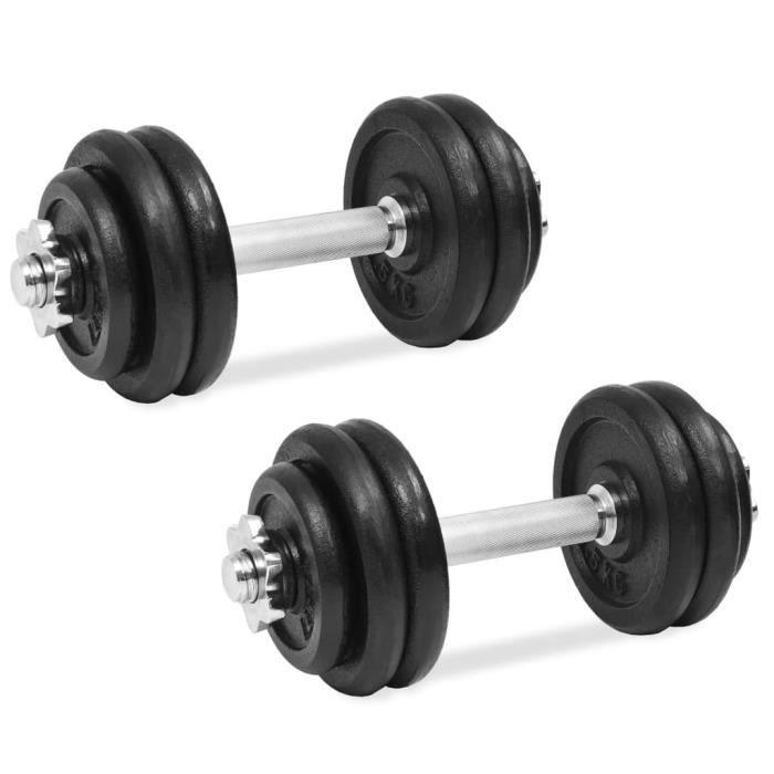 vidaXL Ensemble d'haltères 18 pcs 30 kg