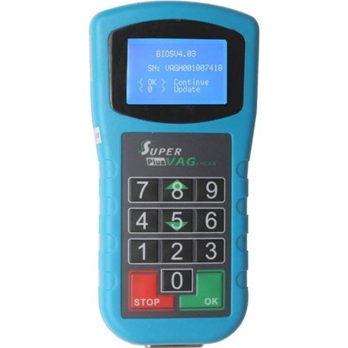 Lecteur de Code Outil Scan Voiture Super VAG K CAN Plus 2.0 diagnostic support compteur kilométrique Correction Lire le